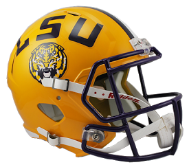 LSU Tigers NCAA College Riddell Speed Full-Size Replica Helmet - Dynasty Sports & Framing