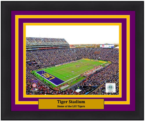 "LSU Tigers Tiger Stadium NCAA College Football 8"" x 10"" Framed and Matted Photo"