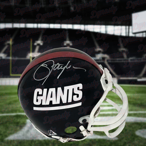 Lawrence Taylor New York Giants Autographed NFL Football Throwback Mini-Helmet
