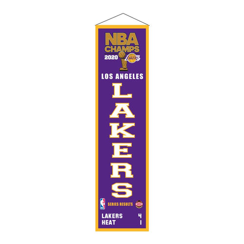Los Angeles Lakers 2020 NBA Champions Basketball Heritage Banner - Dynasty Sports & Framing