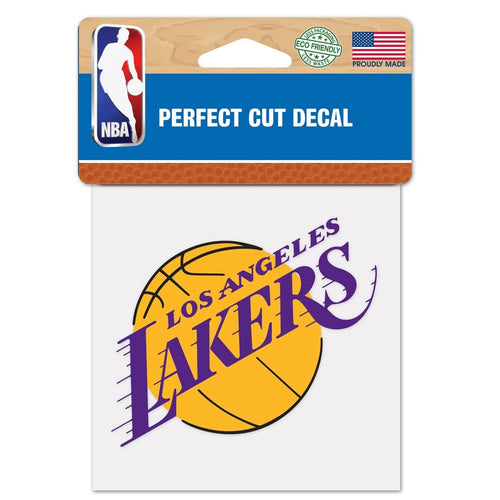 "Los Angeles Lakers NBA Basketball 4"" x 4"" Decal - Dynasty Sports & Framing"