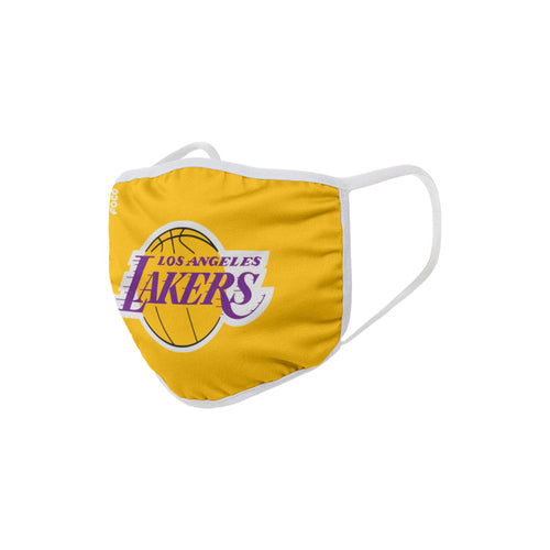 Los Angeles Lakers Solid Big Logo Face Cover Mask - Dynasty Sports & Framing