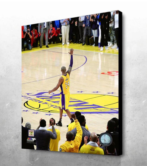 "Kobe Bryant Farewell Game Los Angeles Lakers 16"" x 20"" Basketball Canvas Print - Dynasty Sports & Framing"