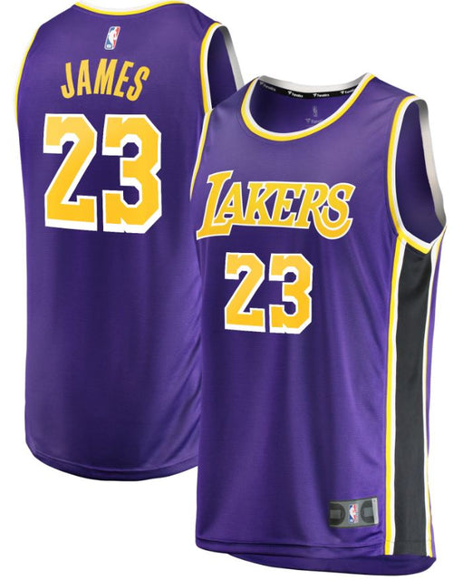 LeBron James Los Angeles Lakers Fast Break Replica Jersey Purple - Statement Edition - Dynasty Sports & Framing