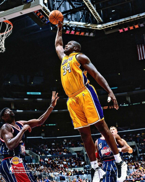 "Shaquille O'Neal v. Rockets Los Angeles Lakers 8"" x 10"" Basketball Photo - Dynasty Sports & Framing"