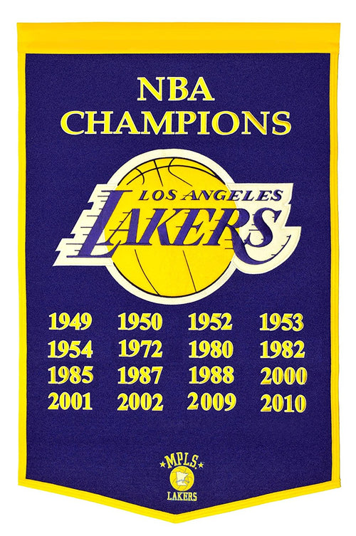 Los Angeles Lakers NBA Champions Dynasty Banner