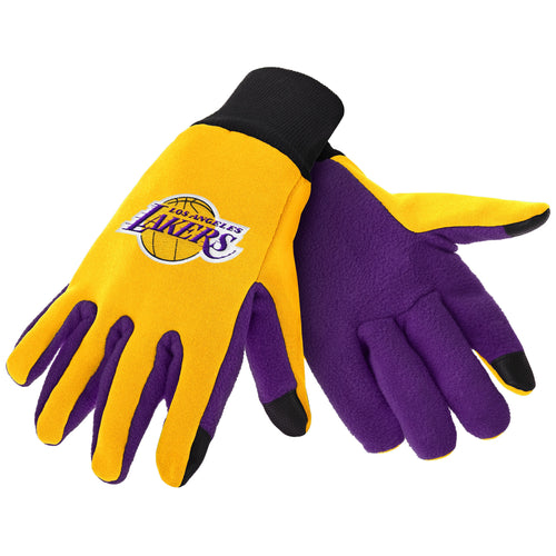 Los Angeles Lakers NBA Basketball Texting Gloves - Dynasty Sports & Framing