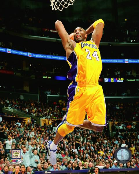 "Kobe Bryant Los Angeles Lakers Slam Dunk NBA Basketball 8"" x 10"" Photo - Dynasty Sports & Framing"