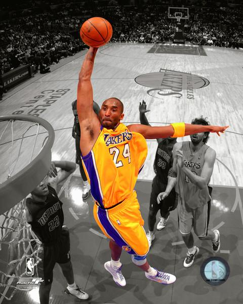 "Kobe Bryant Los Angeles Lakers Spotlight Slam Dunk NBA Basketball 8"" x 10"" Photo"