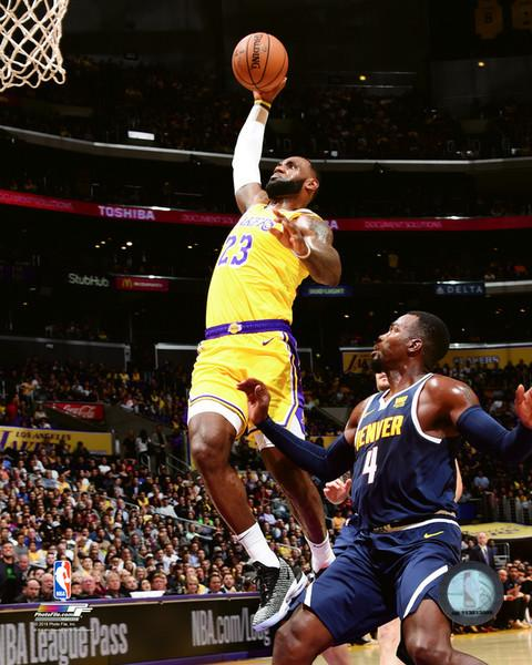 "Los Angeles Lakers LeBron James NBA Basketball 8"" x 10"" Photo"