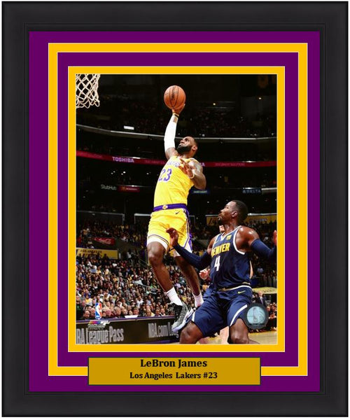 "Los Angeles Lakers LeBron James NBA Basketball 8"" x 10"" Framed and Matted Photo - Dynasty Sports & Framing"