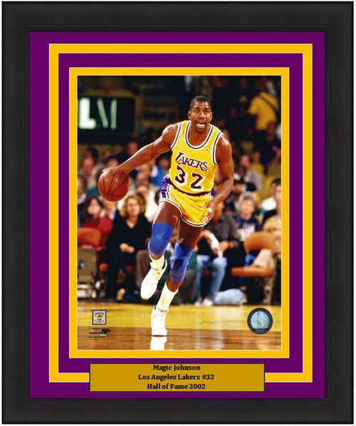 "Magic Johnson Los Angeles Lakers NBA Basketball 8"" x 10"" Framed and Matted Photo - Dynasty Sports & Framing"