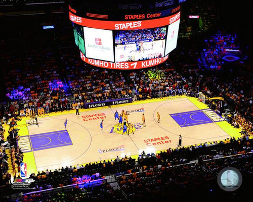 "Los Angeles Lakers Staples Center 8"" x 10"" Basketball Stadium Photo - Dynasty Sports & Framing"