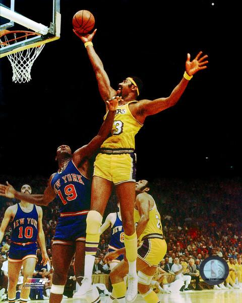 "Wilt Chamberlain in Action Los Angeles Lakers 8"" x 10"" Basketball Photo - Dynasty Sports & Framing"