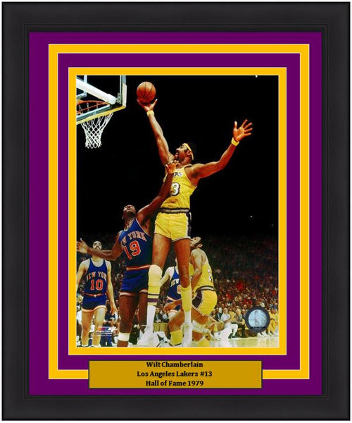 "Wilt Chamberlain Los Angeles Lakers NBA Basketball 8"" x 10"" Framed and Matted Photo"