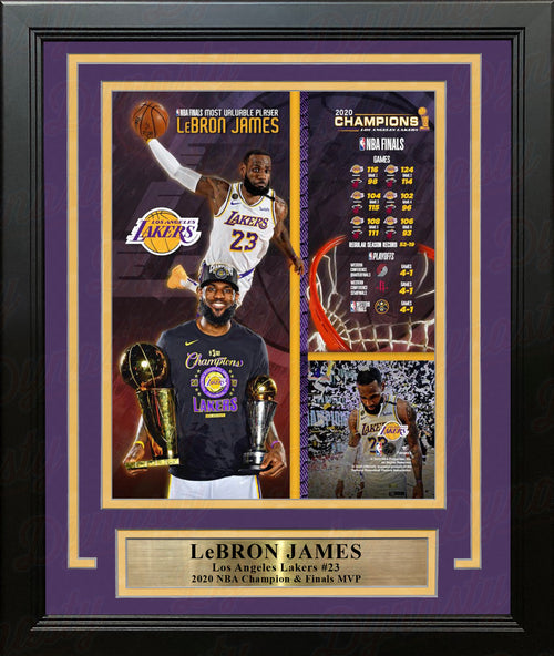 LeBron James 2020 NBA Champions LA Lakers 8x10 Framed Basketball Collage Photo - Dynasty Sports & Framing