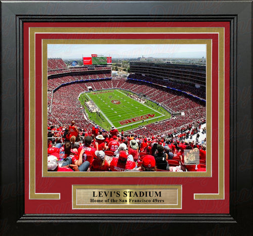 "San Francisco 49ers Levi's Stadium NFL Football 8"" x 10"" Framed and Matted Photo - Dynasty Sports & Framing"