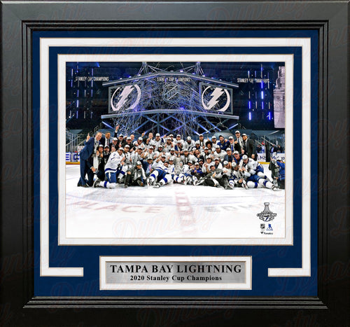 "Tampa Bay Lightning 2020 Stanley Cup Champions Celebration 8"" x 10"" Framed Hockey Photo - Dynasty Sports & Framing"
