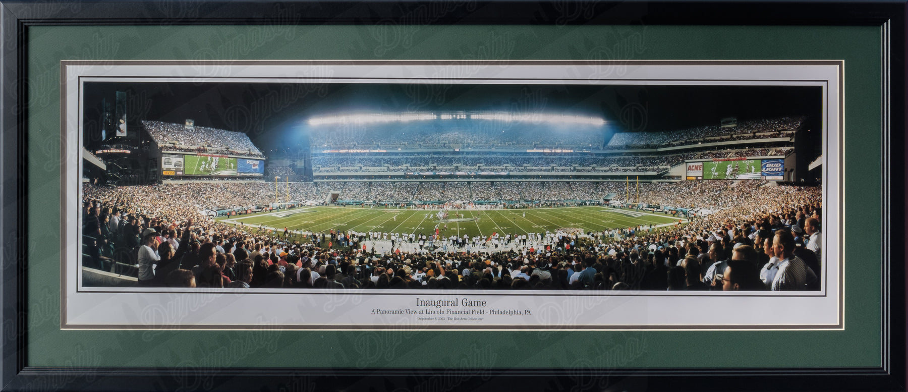 reputable site 7f4b6 6fb78 Philadelphia Eagles Lincoln Financial Field Inaugural Game NFL Football Rob  Arra Framed and Matted Stadium Panorama