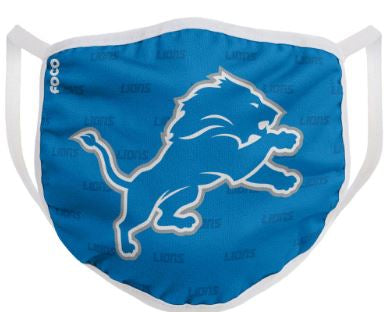 Detroit Lions Solid Big Logo Face Cover Mask - Dynasty Sports & Framing