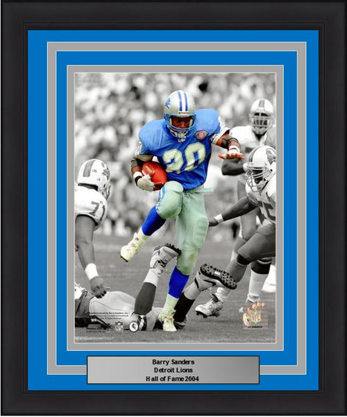 "Detroit Lions Barry Sanders 8"" x 10"" Framed and Matted Photo - Dynasty Sports & Framing"