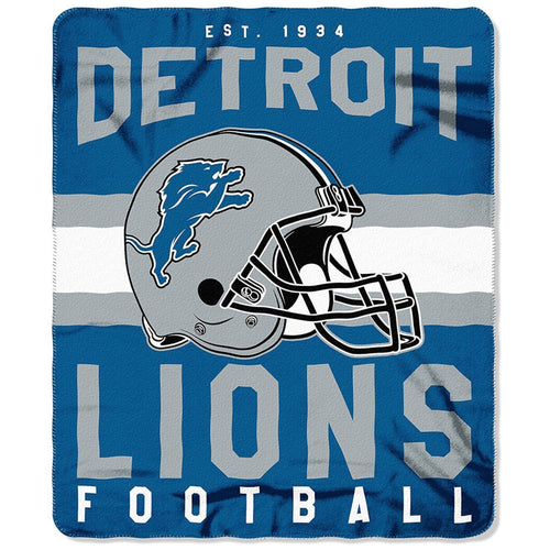 "Detroit Lions NFL Football 50"" x 60"" Singular Fleece Blanket - Dynasty Sports & Framing"