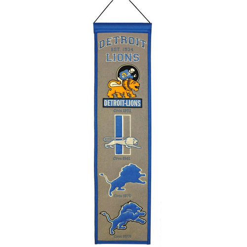 Detroit Lions NFL Heritage Banner - Dynasty Sports & Framing