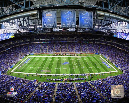"Detroit Lions Ford Field NFL Football 8"" x 10"" Stadium Photo - Dynasty Sports & Framing"