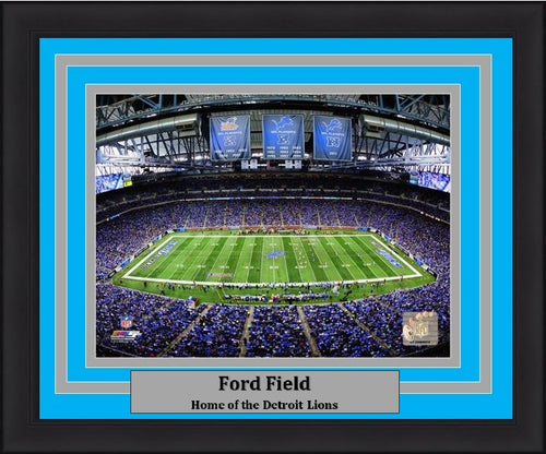 "Detroit Lions Ford Field NFL Football 8"" x 10"" Framed and Matted Stadium Photo"