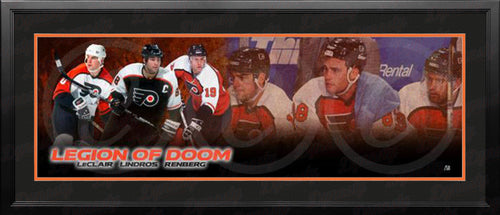 Legion of Doom (John LeClair/Eric Lindros/Mikael Renberg) Philadelphia Flyers Framed Hockey Panorama - Dynasty Sports & Framing