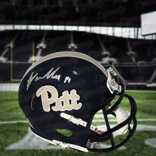 Avonte Maddox Autographed Pittsburgh Panthers Mini-Helmet - Dynasty Sports & Framing