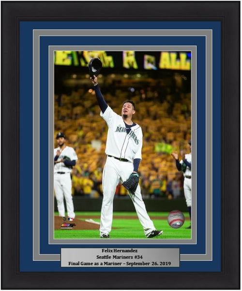 "Felix Hernandez Seattle Mariners Final Career Game in Seattle MLB Baseball 8"" x 10"" Framed and Matted Photo - Dynasty Sports & Framing"