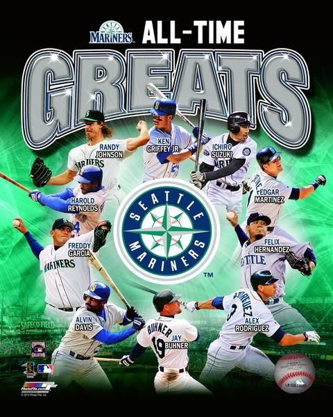 "Seattle Mariners All-Time Greats MLB Baseball 8"" x 10"" Photo - Dynasty Sports & Framing"
