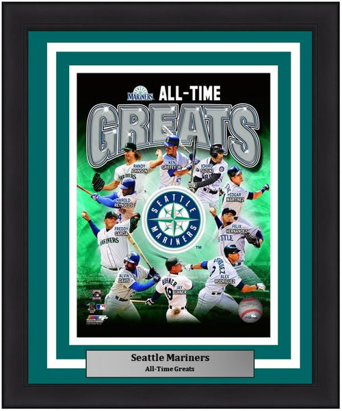 "Seattle Mariners All-Time Greats MLB Baseball 8"" x 10"" Framed and Matted Photo - Dynasty Sports & Framing"