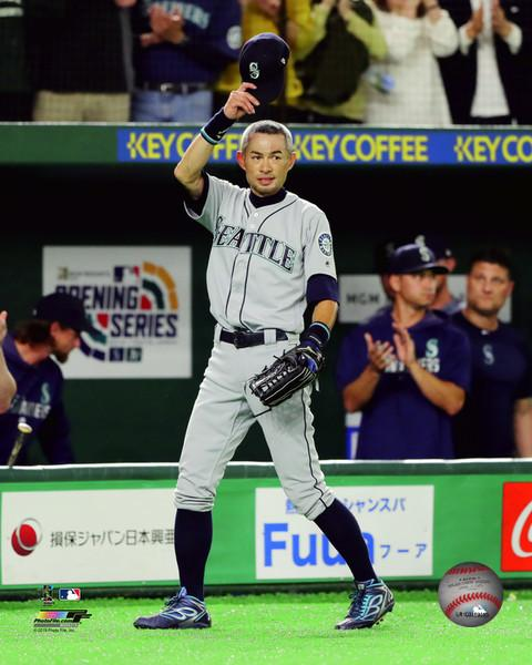 "Ichiro Suzuki Seattle Mariners Final Career Game at the Tokyo Dome MLB Baseball 8"" x 10"" Photo - Dynasty Sports & Framing"