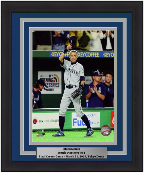 "Ichiro Suzuki Seattle Mariners Final Career Game at the Tokyo Dome MLB Baseball 8"" x 10"" Framed and Matted Photo - Dynasty Sports & Framing"