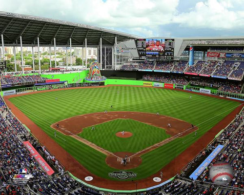 "Miami Marlins Marlins Park Stadium MLB Baseball 8"" x 10"" Photo - Dynasty Sports & Framing"