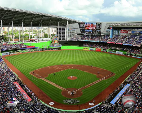 "Miami Marlins Marlins Park Stadium MLB Baseball 8"" x 10"" Photo"