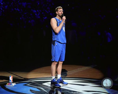 "Dirk Nowitzki Dallas Mavericks Final Career Home Game NBA Basketball 8"" x 10"" Photo"
