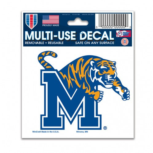 "Memphis Tigers NCAA College 3"" x 4"" Decal - Dynasty Sports & Framing"