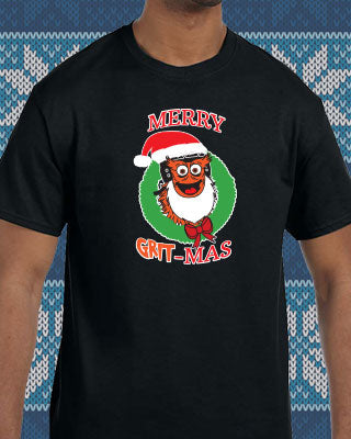 Philadelphia Hockey Merry Grit-Mas Mascot Shirt (Youth) - Dynasty Sports & Framing
