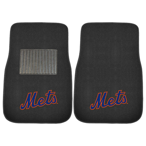 New York Mets MLB Baseball 2 Piece Embroidered Car Mat Set - Dynasty Sports & Framing