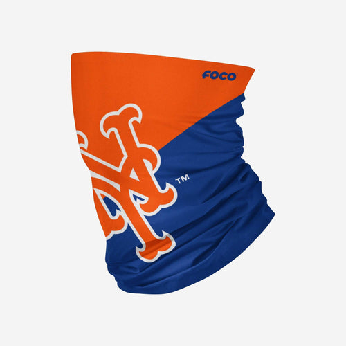 New York Mets Colorblock Big Logo Gaiter Scarf - Dynasty Sports & Framing