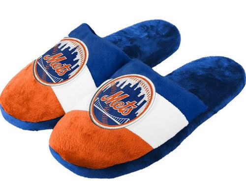 New York Mets Colorblock Slide Slippers - Dynasty Sports & Framing