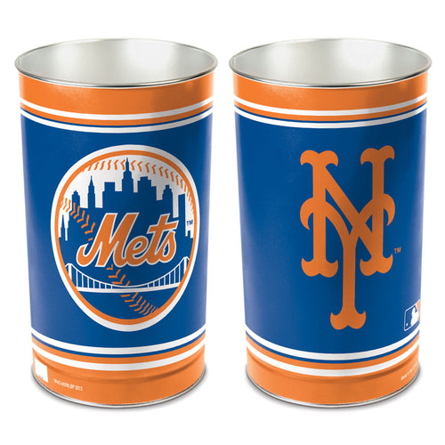 New York Mets MLB Trash Can