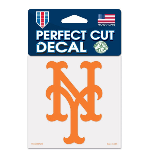 "New York Mets MLB Baseball 4"" x 4"" Decal - Dynasty Sports & Framing"