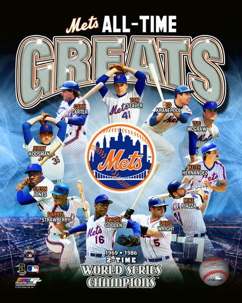 "New York Mets All-Time Greats MLB Baseball 8"" x 10"" Photo"