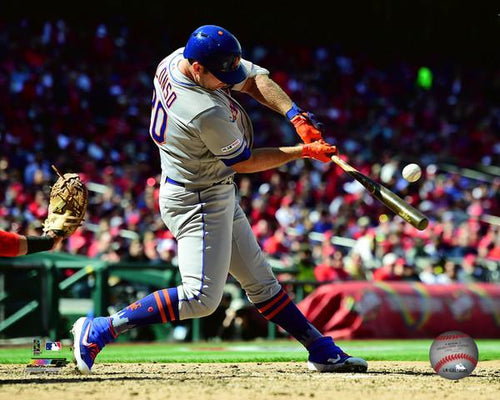 "Pete Alonso New York Mets First Major League Hit MLB Baseball 8"" x 10"" Photo"