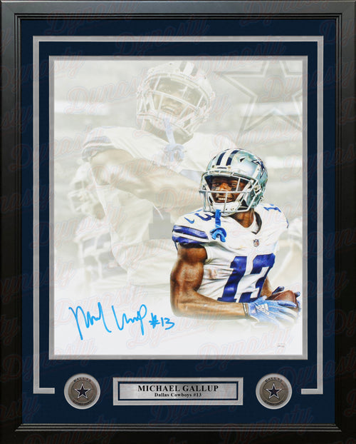 "Michael Gallup Dallas Cowboys Autographed 16"" x 20"" Framed Collage Football Photo - Dynasty Sports & Framing"