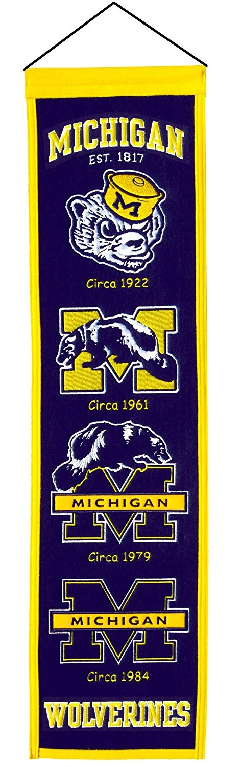 Michigan Wolverines NCAA Heritage Banner